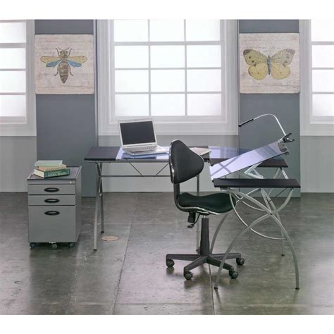 Drafting Table Ls Studio Designs Split Top Ls Workcenter Color Pewter 10080
