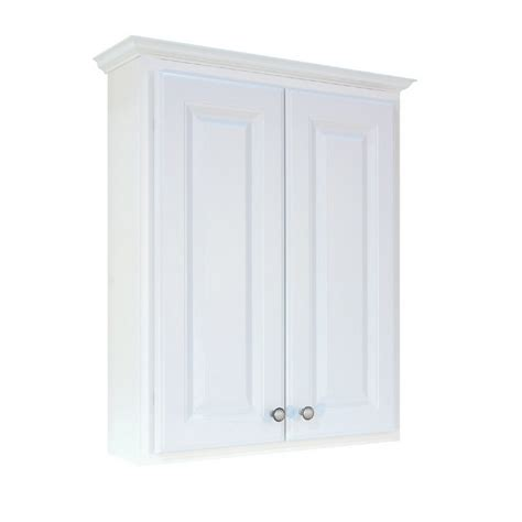 lowes over the toilet white cabinet shop woodgate 24 quot white over the toilet cabinet at lowes