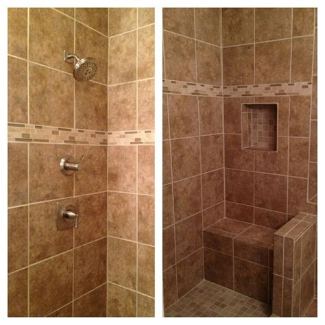 tiled shower with bench beige tile shower with bench our tile showers other