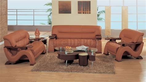 modern rust furniture modern rust leather living room set with mahogany arms
