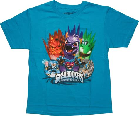 Chion Tshirt Kaos Tees 14 skylanders six stack youth t shirt