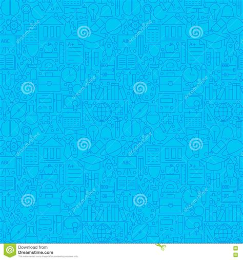 pattern background science line science education blue tile pattern stock vector