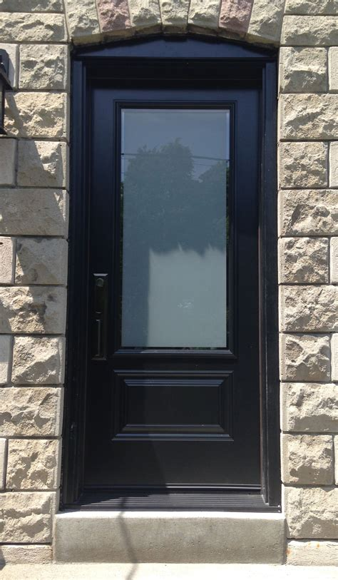 Exterior Steel Door With Window Delco Windows Doors Toronto Steel Entry Doors