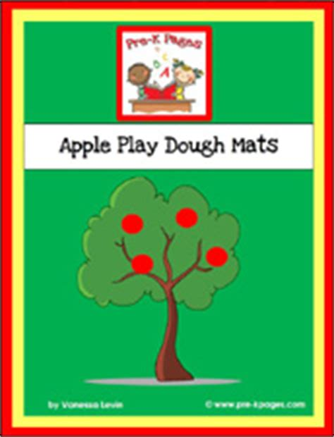 printable apple playdough mats play dough center in preschool pre k and kindergarten