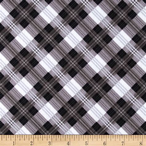 Kemeja Flannel Tartan Black Grey great scotts flannel mad for plaid black grey discount designer fabric fabric