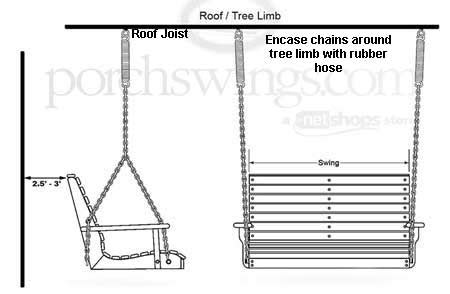 how to hang a bench swing from a tree how to hang a bench swing from a tree hang a porch swing