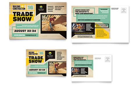 builders trade show flyer template word publisher