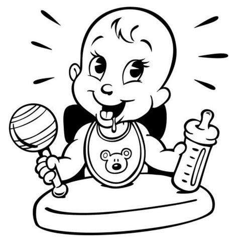 imagenes relajantes infantiles dibujo de un beb 233 comiendo para imprimir y pintar