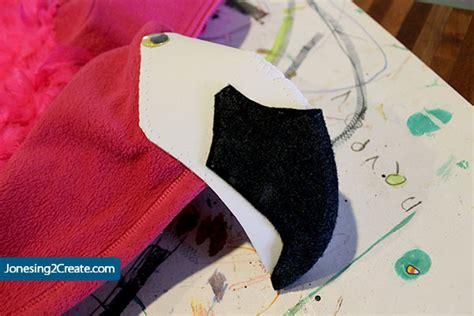 flamingo beak template child s flamingo costume jonesing2create