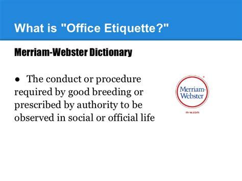 office etiquette office etiquette