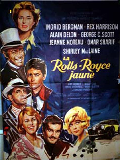 yellow rolls royce movie quot rolls royce jaune la quot movie poster quot the yellow rolls