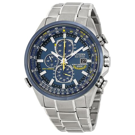 "Citizen Men's AT8020 54L ""Blue Angels"" Stainless Steel Eco Drive Dress Watch 13205097546   eBay"
