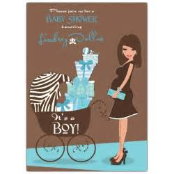 blue brown baby shower invitations paperstyle
