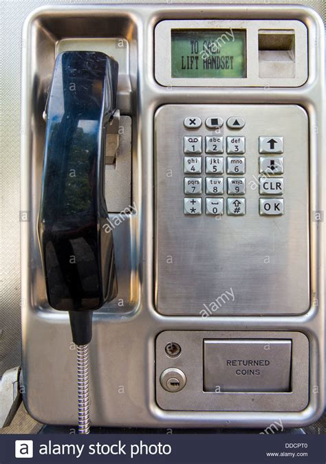 Phone Lookup Uk Bt Modern Bt Payphone Telephone With Keypad Handset And Digital Display Stock Photo