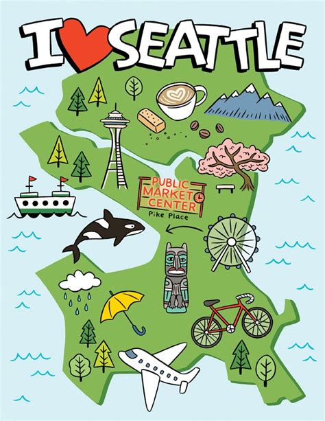seattle new york map the found i seattle map