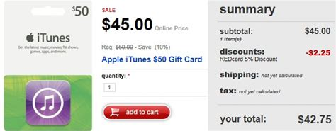 Lowest Itunes Gift Card - target com 50 itunes gift card as low as 42 75 totallytarget com