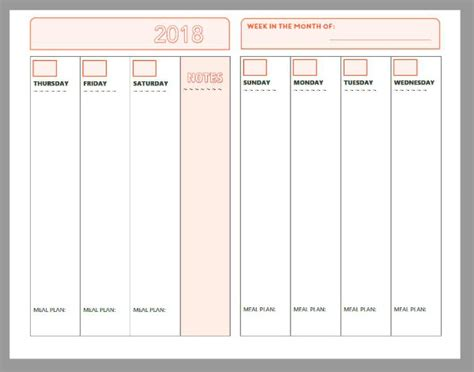 Galerry free printable daily planner for 2018