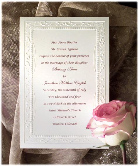 Formal Wedding Invitations by Formal Wedding Invitation Wording Etiquette Parte Two