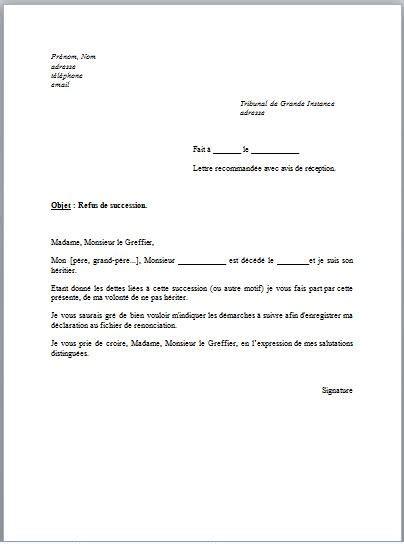 lettre de refus candidature modele de lettre type