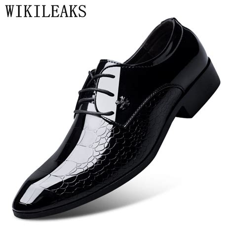 designer luxury brand oxfords shoes for dress shoes patent leather croco office dress shoes