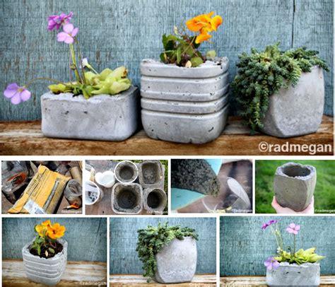 diy concrete planters gardens pinterest