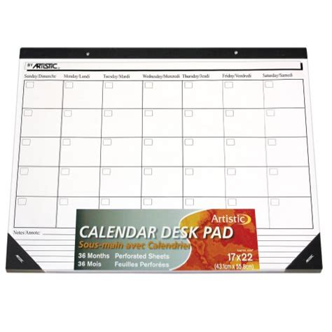 artistic office products 17 x 22 undated calendar paper desk pad white paper lowest assemble