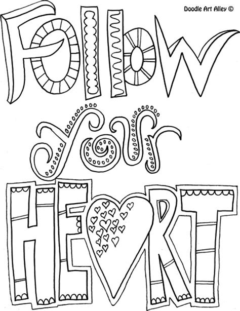 easy coloring books for adults quote coloring page follow your coloring