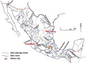 us waterways and mexico map rivers geo mexico the geography of mexico