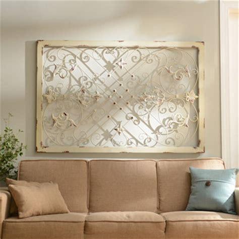 Kirklands Home Decor Store grace scrolled ivory plaque