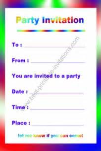 birthday invitations party favors ideas