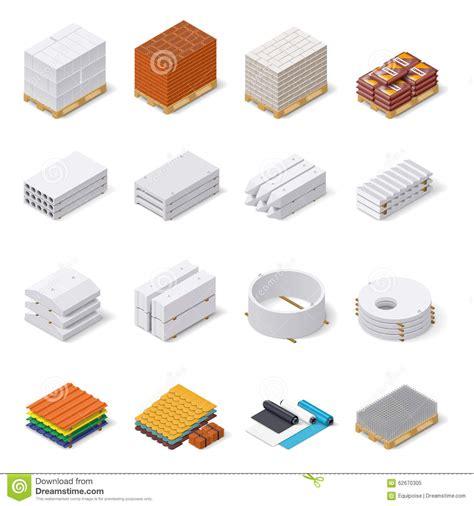 Ensemble Isométrique D'icône De Matériaux De Construction