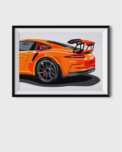 porsche 911 poster porsche 918 spyder poster print simply petrol