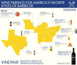 map wine pairings for america s favorite styles of