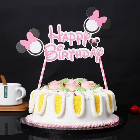 mickey mouse happy birthday letter garland cake topper bunting set  kids party decoration
