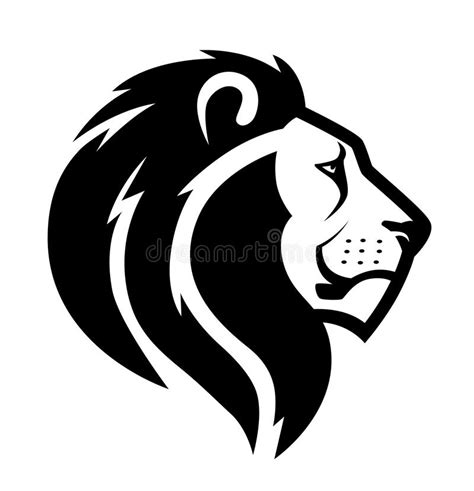 lion head symbol stock vector illustration of profile