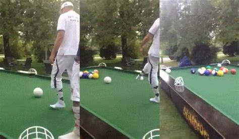 billiards for giants gif soccer balls on a pool table