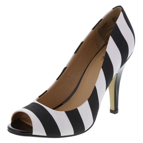 stripes go chic in black and white payless shoes