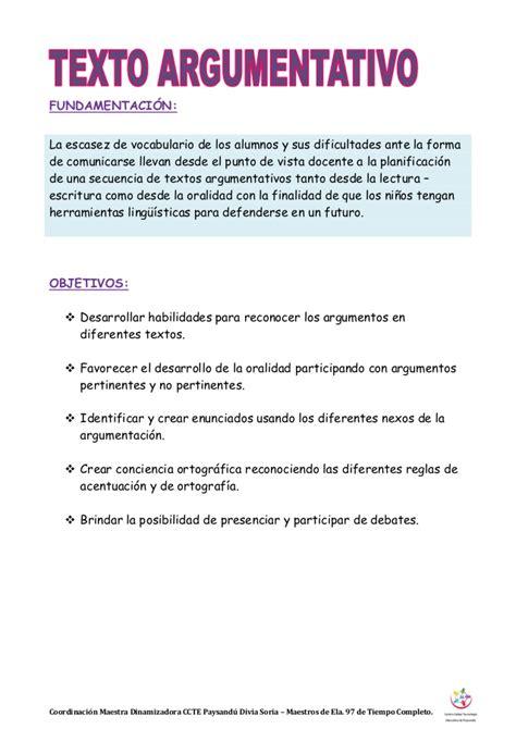 textos argumentativos cortos texto argumentativo escuela n 176 97