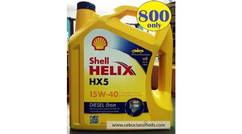 Shell Helix Hx5 for sale shell helix hx5 diesel 15w 40 6liters price 800 00 cebuclassifieds