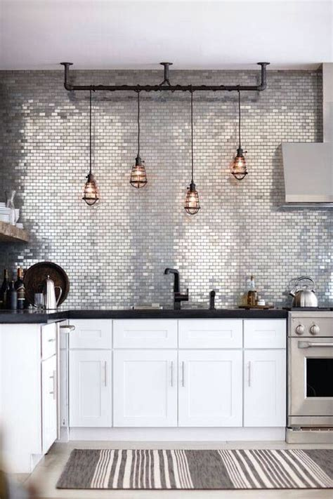 kitchen feature wall ideas the o jays industrial and lights on pinterest