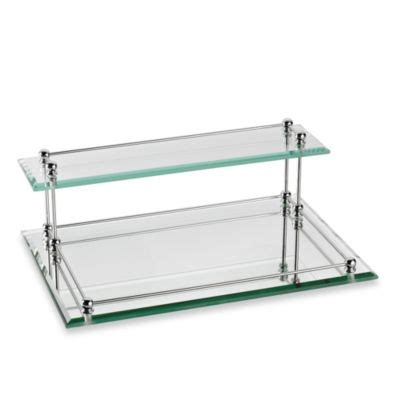 mirrored bathroom tray buy mirrored vanity trays from bed bath beyond