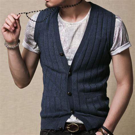 mens knitted wool waistcoat summer new s slim vest casual gilet wool vest