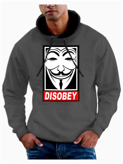 Hoodie Anonymous Sweater Anonymous Anonymous v for vendetta hoodie anarchy anonymous hoody fawkes mask hooded sweatshirt ebay