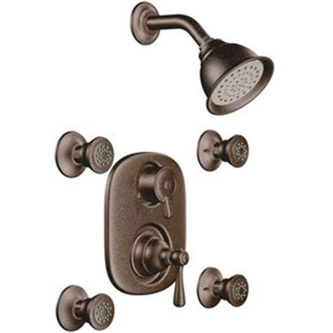 Bronze Shower System by M263orb M3330 Kingsley Two Wall Power Custom Shower System