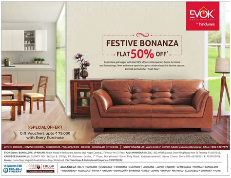evok furniture sale bangalore saleraja