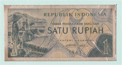 Uang Kuno 2 5 Rupiah Tahun 1961 uang satu rupiah tahun 1961 seri sandang pangan