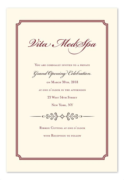 luncheon invitation template 7 business invitations designs templates free