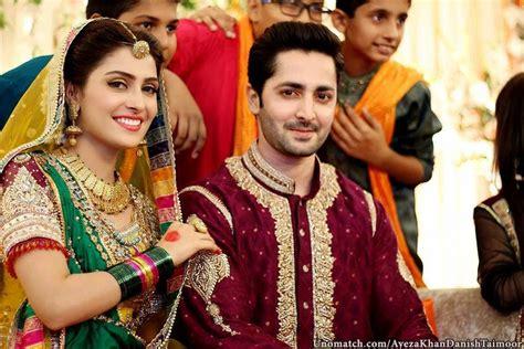 pakistani celebrity ayeza khan  danish taimoor wedding