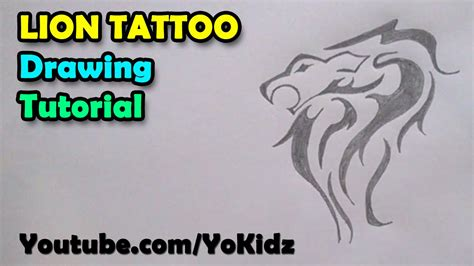 tattoo paper how to how to draw tattoos lion tattoo on paper youtube