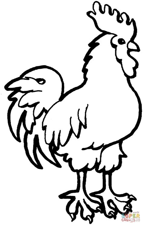 coloring book pictures rooster rooster coloring page free printable coloring pages